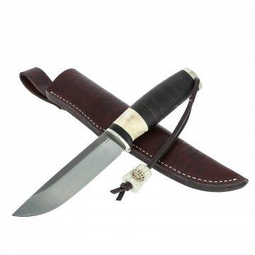 Нож Лиман (сталь M390, рукоять кожа, рог оленя)