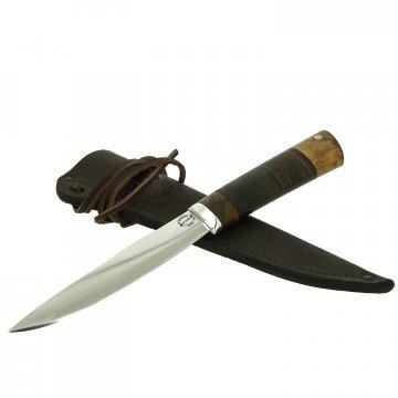 Нож Якутский большой (сталь Х12МФ, рукоять кожа, корень ореха)