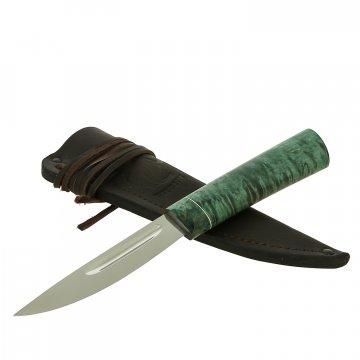 Нож Якутский средний Левша (сталь Х12МФ, рукоять стабилизированная карельская береза)