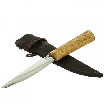 Нож Якутский средний (сталь Х12МФ, рукоять карельская береза)