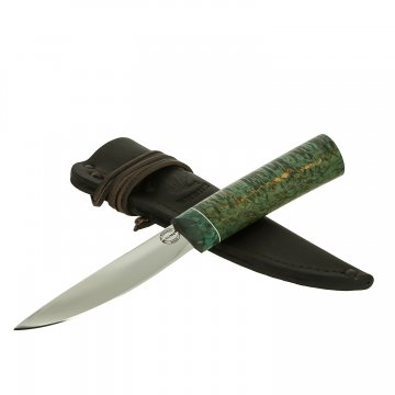 Нож Якутский малый (сталь Х12МФ, рукоять стабилизированная карельская береза)