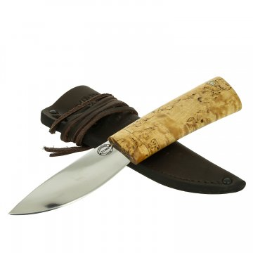 Шкуросъемный нож Якут (сталь Х12МФ, рукоять карельская береза)