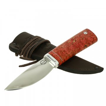 Шкуросъемный нож Якут (сталь Х12МФ, рукоять стабилизированная карельская береза)