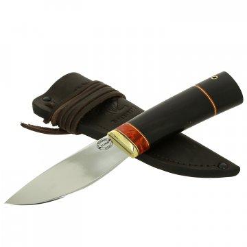 Шкуросъемный нож Якут (сталь Х12МФ, рукоять черный граб)