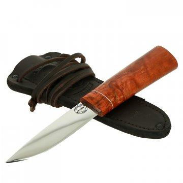 Шейный нож Якут (сталь Х12МФ, рукоять стабилизированная карельская береза)