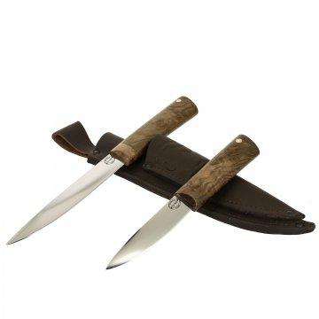 Комплект Якутских ножей (сталь Х12МФ, рукоять корень ореха)