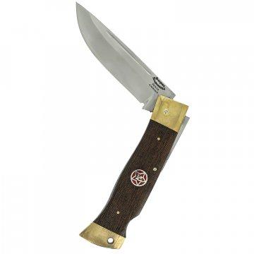 Складной нож Лань (сталь 95Х18, рукоять венге, латунь)
