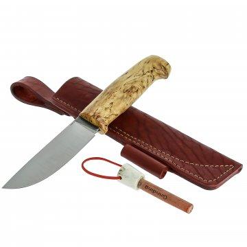 Нож Шмель (сталь 110Х18, рукоять карельская береза)