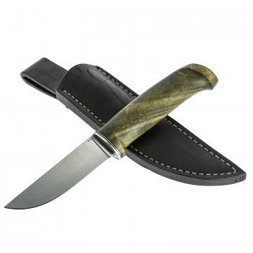 Нож Барбус малый (сталь D2, рукоять стабилизированный корень тополя)