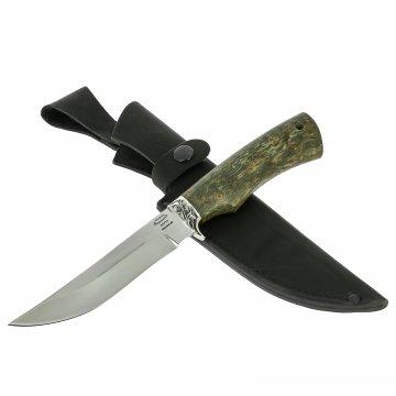 Нож Рысь (сталь 95Х18, рукоять стабилизированная карельская береза)