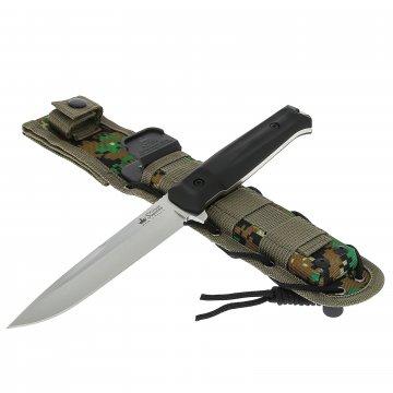 Нож Delta (сталь AUS-8 SW, рукоять кратон, ножны камо)
