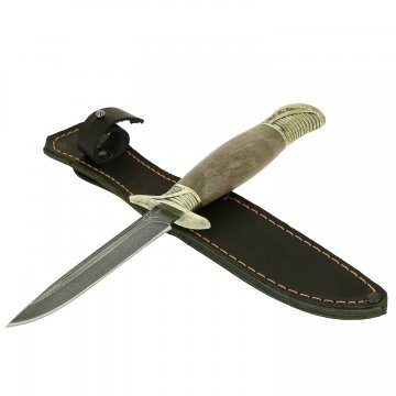 Нож Финка НКВД (сталь алмазная ХВ5, рукоять стабилизированный клен)