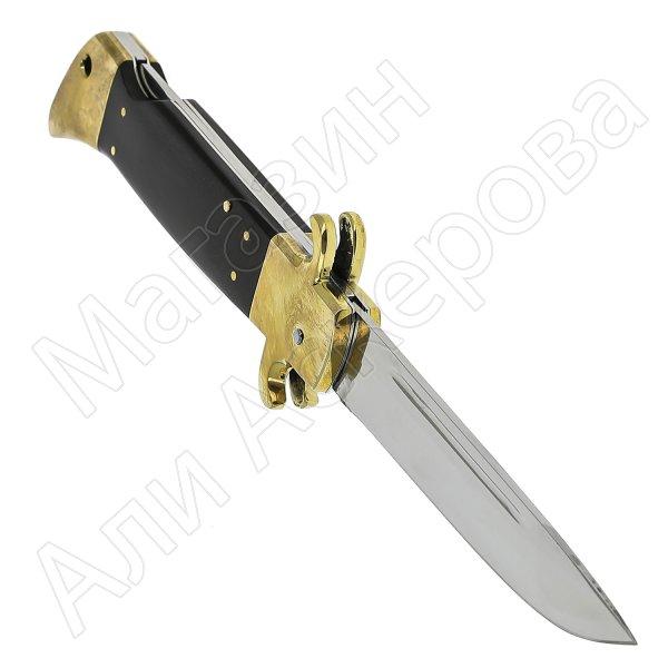 Складной нож Финка НКВД Звезда (сталь Х12МФ, рукоять G10, латунь)