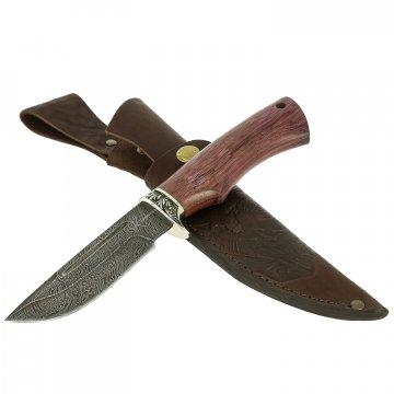 Нож Омуль-2 (дамасская сталь, рукоять амарант)