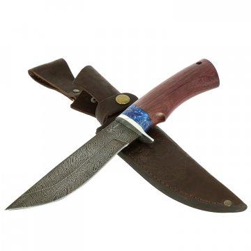 Нож Южный (дамасская сталь, рукоять амарант, композит)