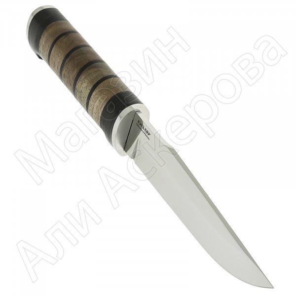 Кизлярский нож разделочный Барс (сталь Х50CrMoV15, рукоять наборная кожа, орех)