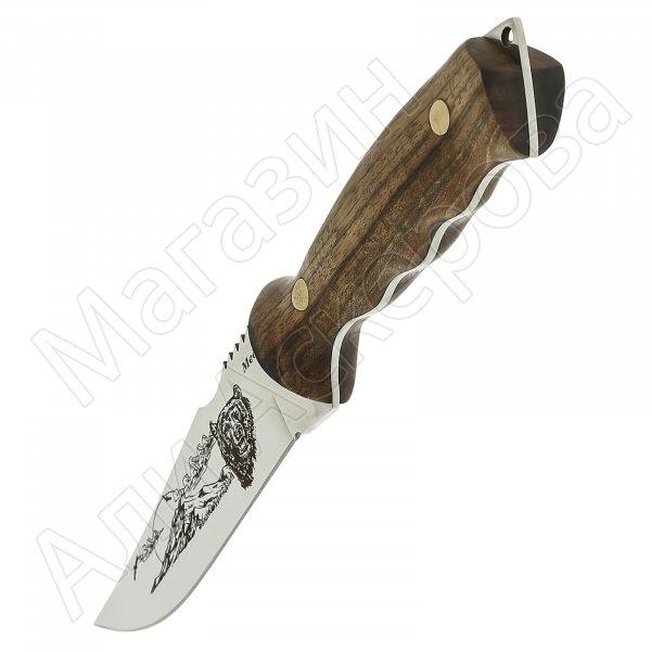 Кизлярский нож разделочный Медведь (сталь Х50CrMoV15, рукоять орех)