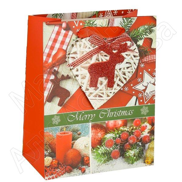 """Подарочный пакет """"Новогодний"""" средний арт.10602"""
