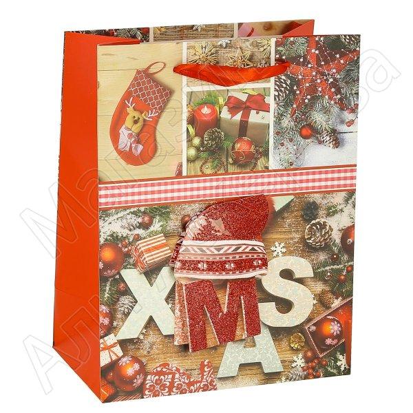 """Подарочный пакет """"Новогодний"""" средний арт.10603"""