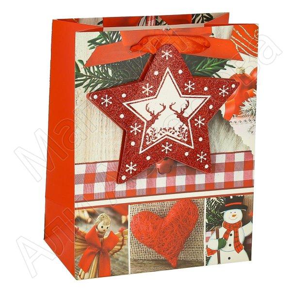 """Подарочный пакет """"Новогодний"""" средний арт.10604"""