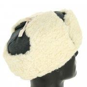 Мужская шапка-ушанка из овчины ручной работы арт.10470