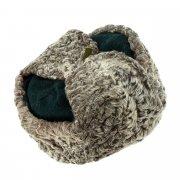 Мужская каракулевая шапка-ушанка ручной работы (сорт - валек) арт.6996