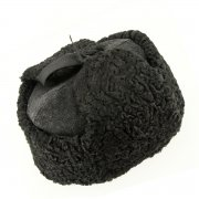 Мужская каракулевая шапка-ушанка ручной работы (сорт - валек) арт.6998