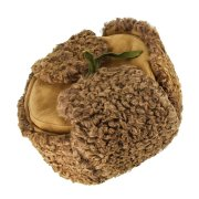 Мужская каракулевая шапка-ушанка ручной работы (сорт - валек) арт.7020