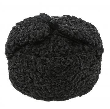 Мужская каракулевая шапка-ушанка ручной работы