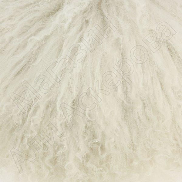 Кавказская папаха белая из натуральной овчины арт.5019