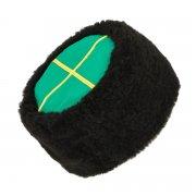 Казачья кубанка черная (овчина, ручная выделка, высота 15 см, размерная утяжка)