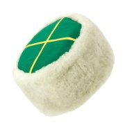 Казачья кубанка белая (овчина, ручная выделка, высота 15 см, размерная утяжка)