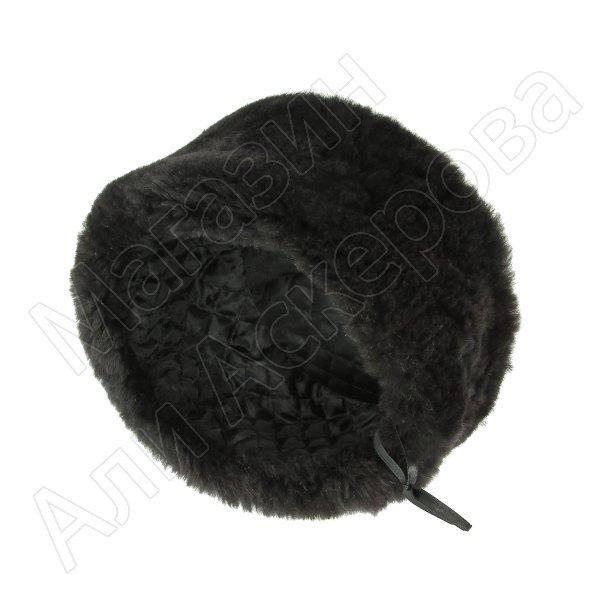 Казачья кубанка черная (овчина, ручная выделка, высота 12 см, размерная утяжка)