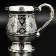 Серебряная кружка Кубачи ручной работы арт.8673