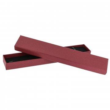 Подарочная коробочка бордовая (4х21х2)
