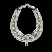 Кубачинская серебряная подкова ручной работы малая арт.4925