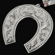Кубачинская серебряная подкова ручной работы большая арт.7826