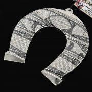 Кубачинская серебряная подкова ручной работы малая арт.7827