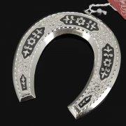 Кубачинская серебряная подкова ручной работы малая арт.7838