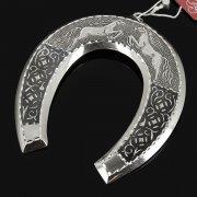 Кубачинская серебряная подкова ручной работы малая арт.7839