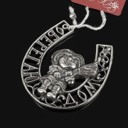 Кубачинская серебряная подкова ручной работы малая арт.7846