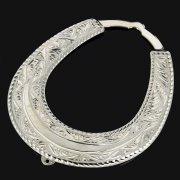 Кубачинская серебряная подкова ручной работы большая арт.9185