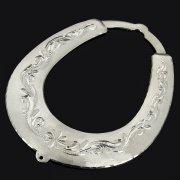 Кубачинская серебряная подкова ручной работы большая арт.9186