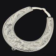 Кубачинская серебряная подкова ручной работы большая арт.9190