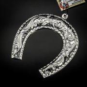Кубачинская серебряная подкова ручной работы малая арт.6169