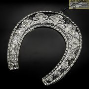 Кубачинская серебряная подкова ручной работы большая арт.6170