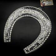 Кубачинская серебряная подкова ручной работы большая арт.6177