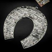 Кубачинская серебряная подкова ручной работы большая арт.6178