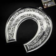 Кубачинская серебряная подкова ручной работы большая арт.6204