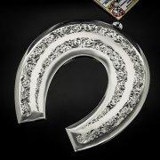 Кубачинская серебряная подкова ручной работы большая арт.6208